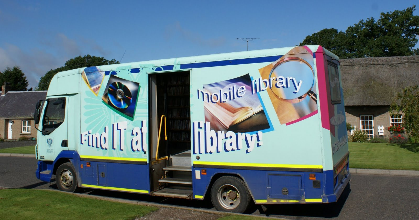 August 27th Photograph Mobile Library Perthshire Scotland